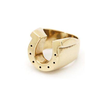 Gold Horseshoe Ring Accessaries Pinterest