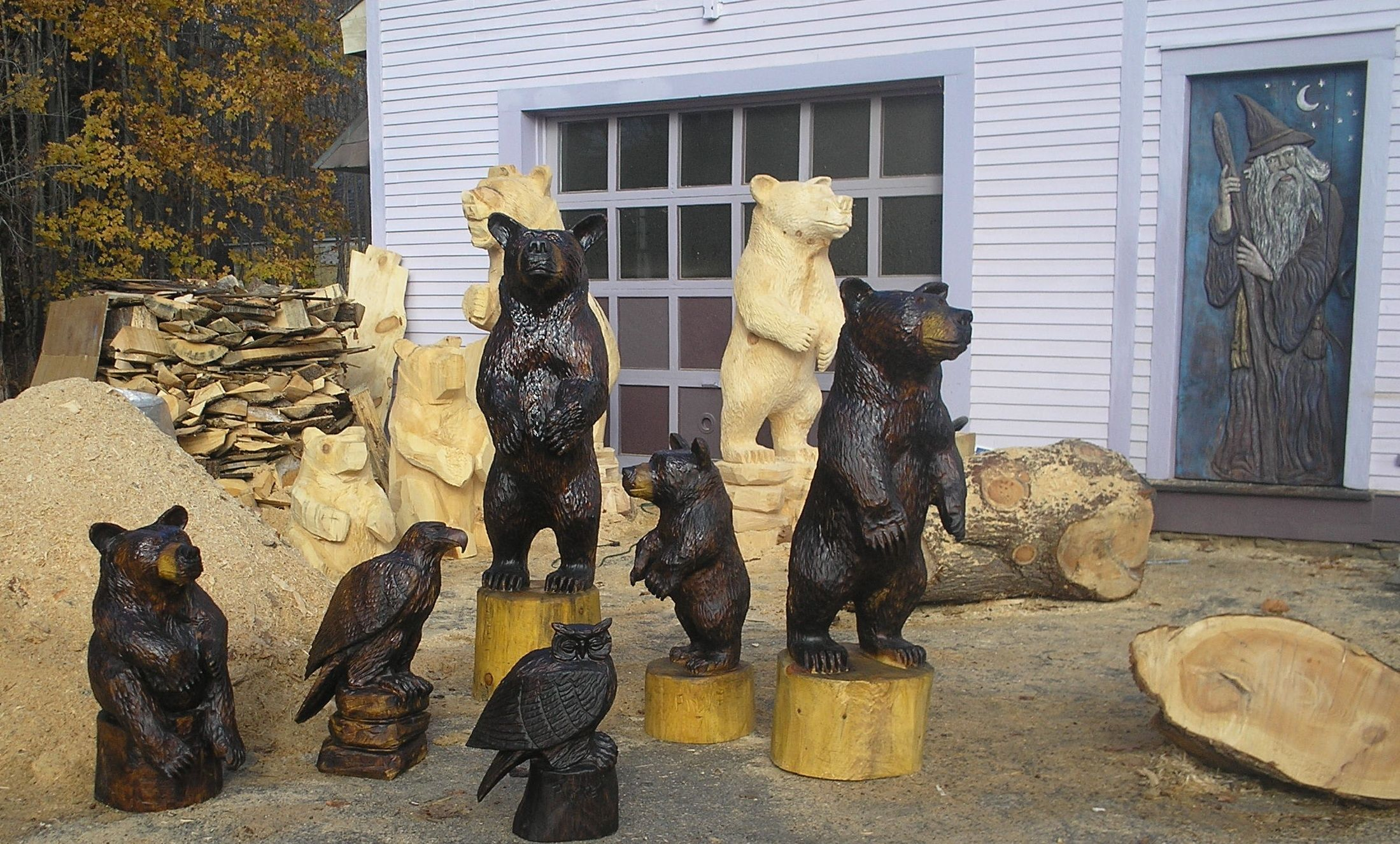 Image detail for chainsaw carving chain saw bears