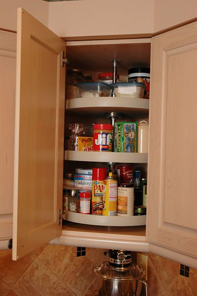 11 must have accessories for kitchen cabinet storage - Upper Corner Kitchen Cabinet Ideas