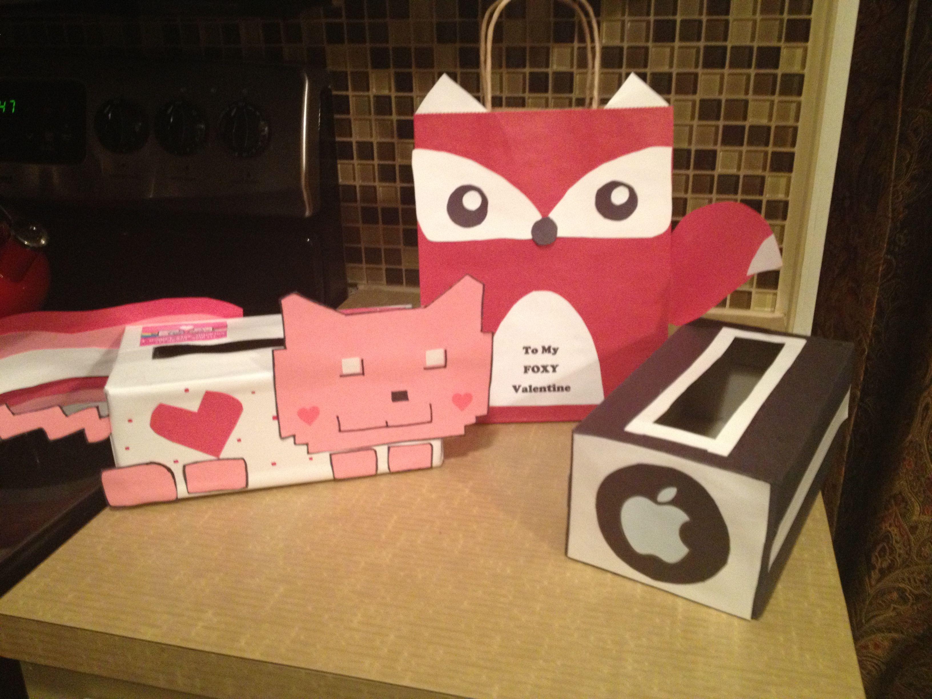 valentines day boxes nyan cat fox and ibox - Cat Valentine Box