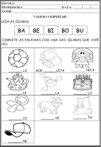 5xx Error Atividades De Silabas Atividades E Familia Silabica Do B
