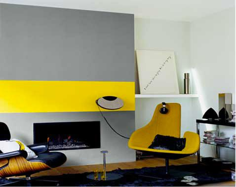 Comment Associer La Couleur Gris En Decoration Salon Gris Et Jaune Decoration Salon Peinture Decoration Salon