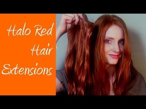 red hair extensions halo