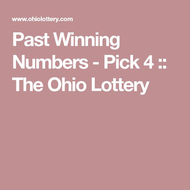 Ohio lottery pick 4 winning results