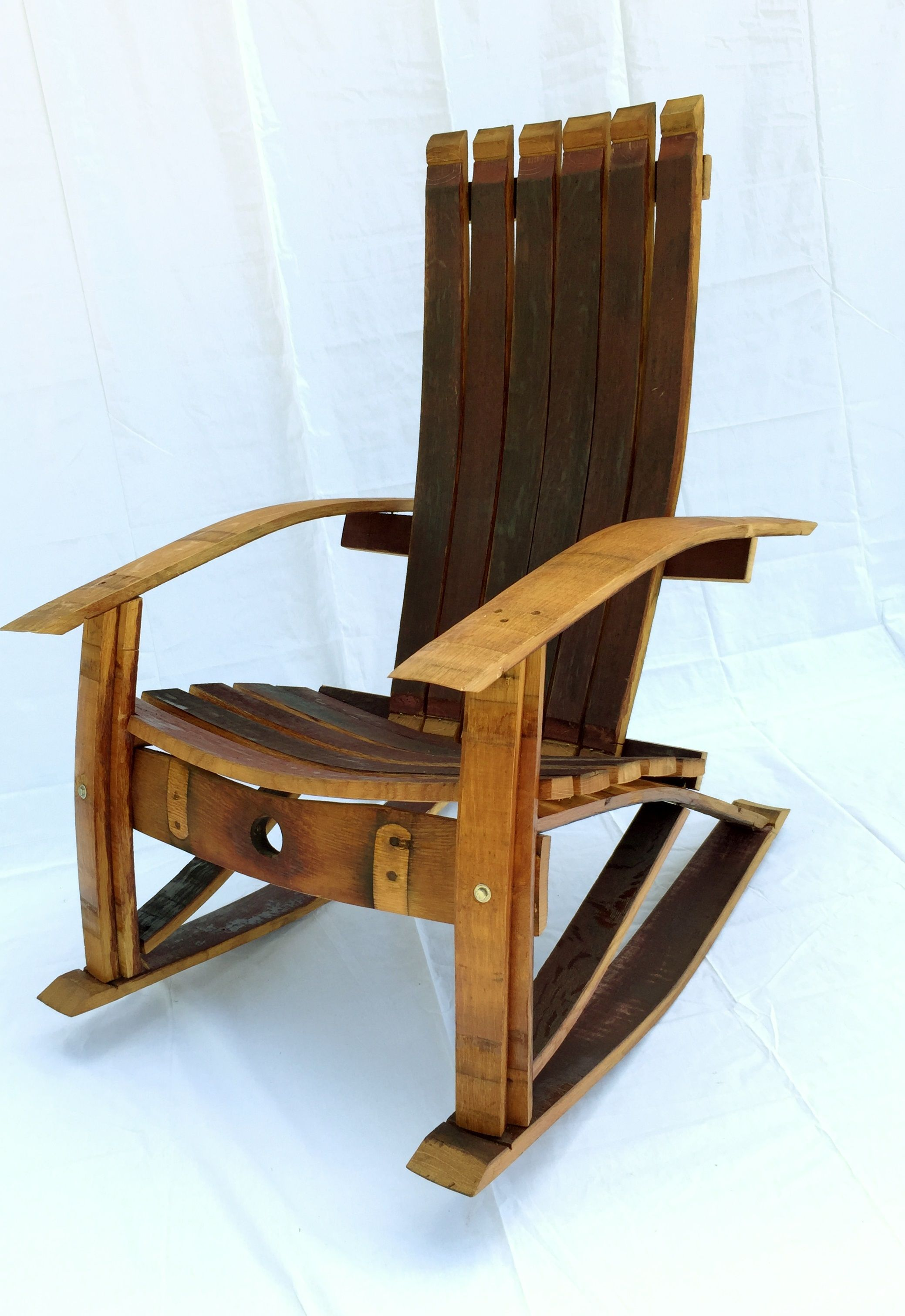 diy wine barrel rocking chair wood plans very simple to build with full scale woodworking plans that come with step by step instructions