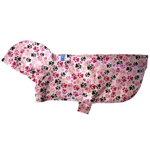 Rc Pet Products Packable Dog Rain Poncho Pitter Patter Pink Dog Raincoat Rain Poncho Pet Supplies