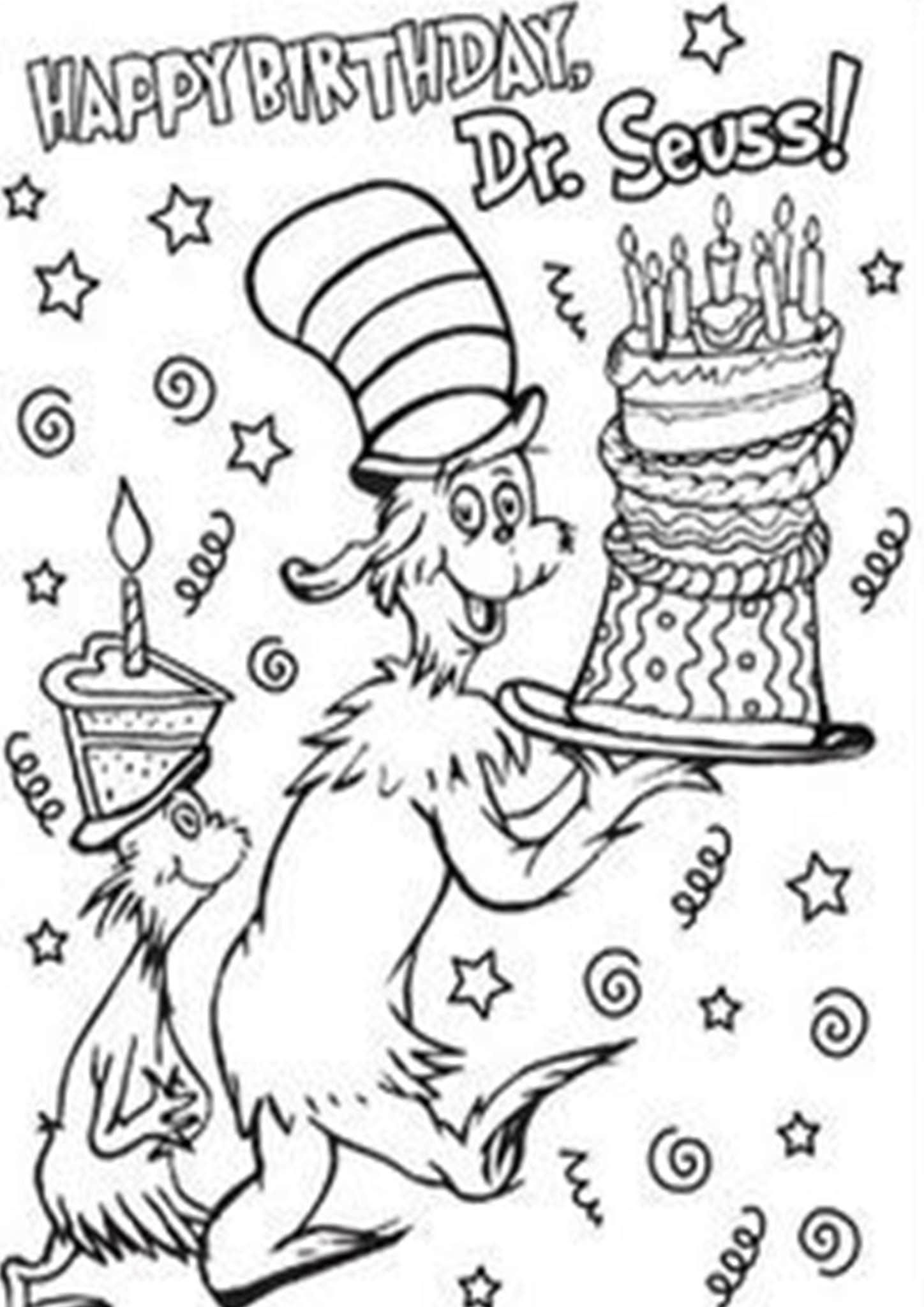 Free Easy To Print Cat In The Hat Coloring Pages Dr Seuss Activities Dr Seuss Coloring Pages Dr Seuss Classroom