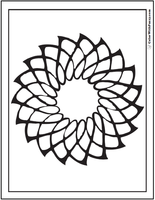 Geometric Coloring Page of a spinning star or geometric flower ...