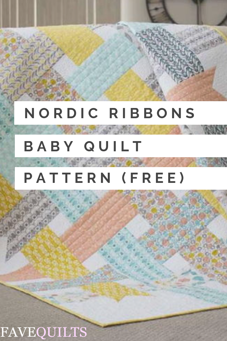 Baby Quilt Patterns.Nordic Ribbons Baby Quilt Pattern Baby Quilt Patterns Free Baby