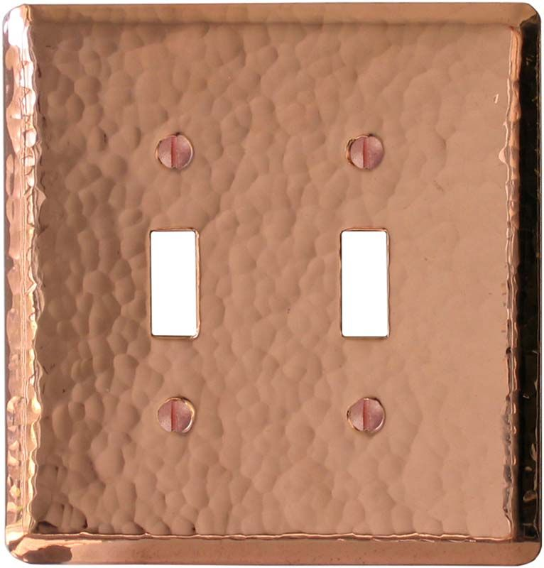 Hammered Polished Copper Light Switch Plates Outlet Covers