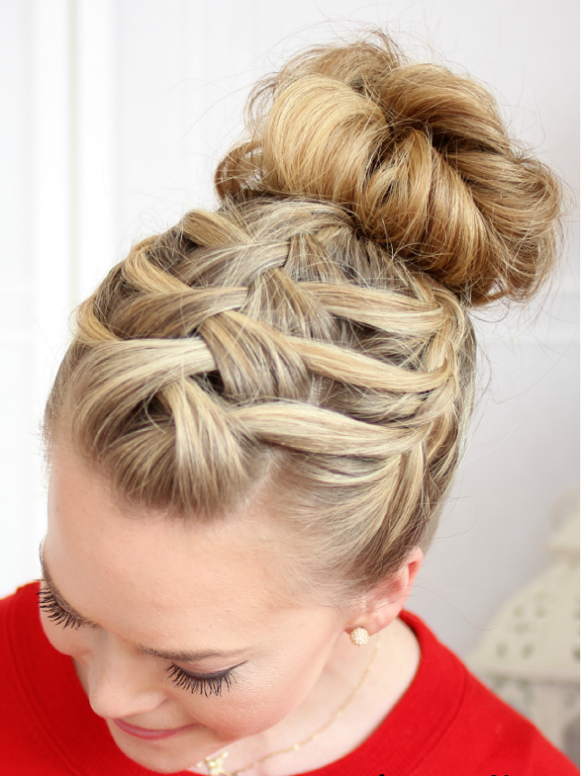 Put your hair up for the gym with a criss cross braid. For hair ...