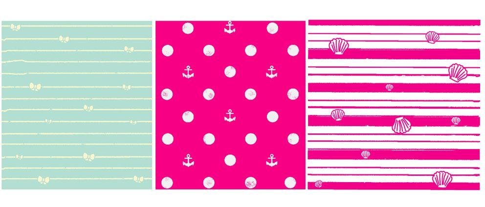 """Diseño de Colección """"Au Revoir"""" by nariasat. # kitty #preppy #sailor #nauticstripes #polkadots #coolprints #cuteanchor"""