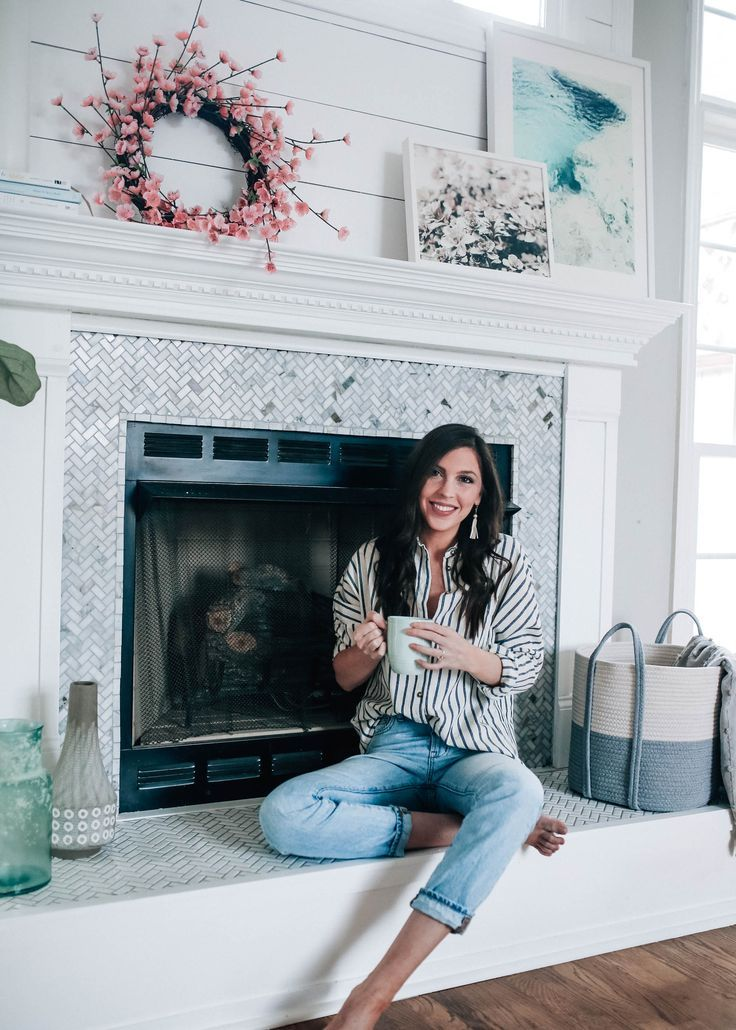 Fireplace Makeover Reveal with The Home Depot x Pretty in the Pines