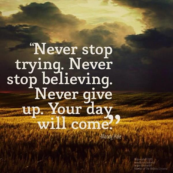 Inspirational Quotes About Failure: Never Stop Believing Quotes - Google Search