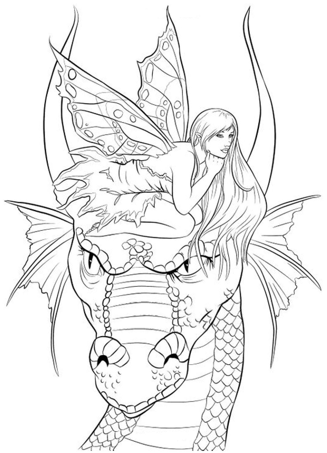 free fairies coloring pages for adults | Pin by Coloring Fun on Fantasy | Fairy coloring pages ...