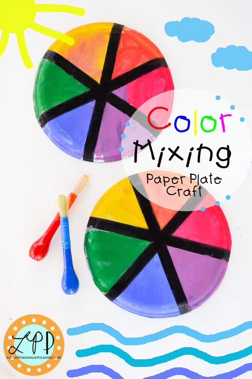 color mixing beach craft learn primary and secondary colors while