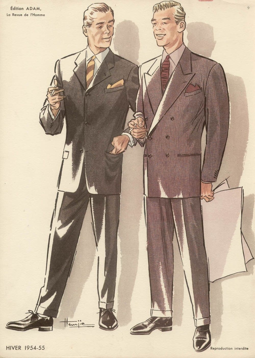 Fashion On The Couch 1940 S Fashion For Men: French 1950s Fashion Designs For Men By Sebraprints On