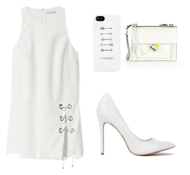 All White by g-minie on Polyvore featuring polyvore, fashion, style, Rebecca Minkoff, Salvatore Ferragamo and clothing