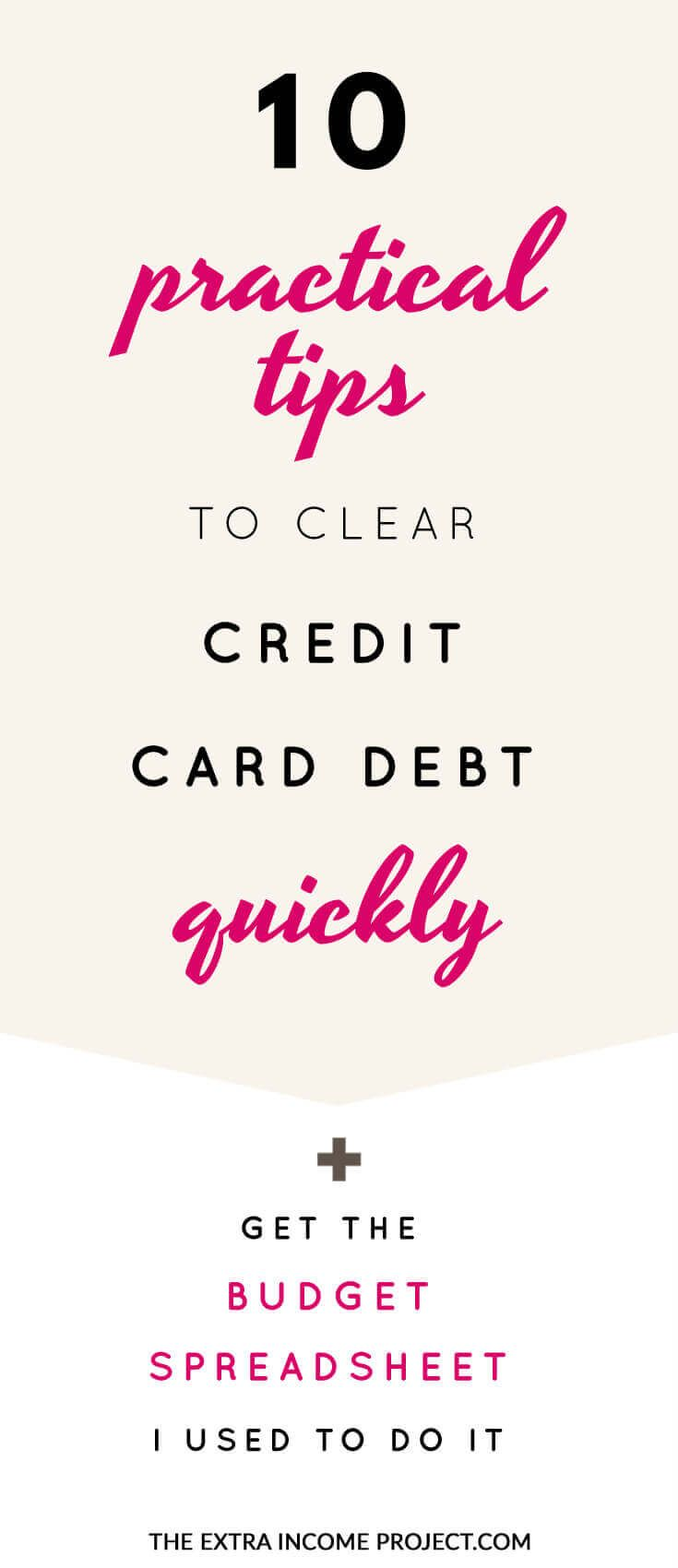 how to clear credit cards quickly