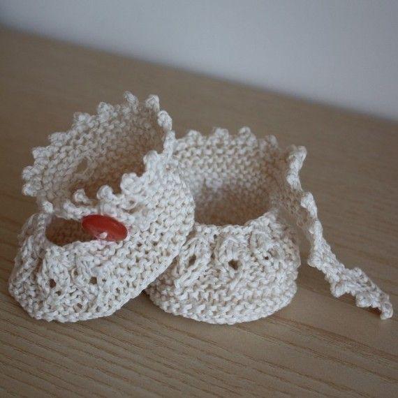 Knitting pattern (pdf file) - Baby Shoes Vanilla( sizes 0-6/6-12 ...
