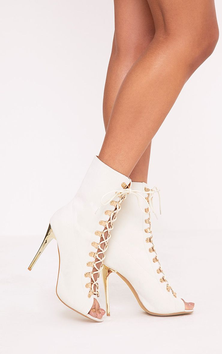Elina Cream Lace Up Ankle Boots | Lace up ankle boots, Ankle