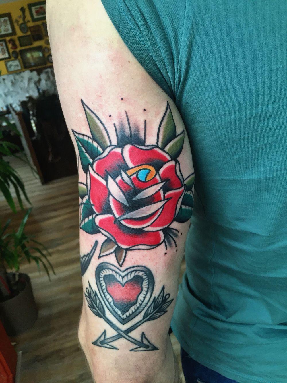 Rose tattoo by Bram Elstak