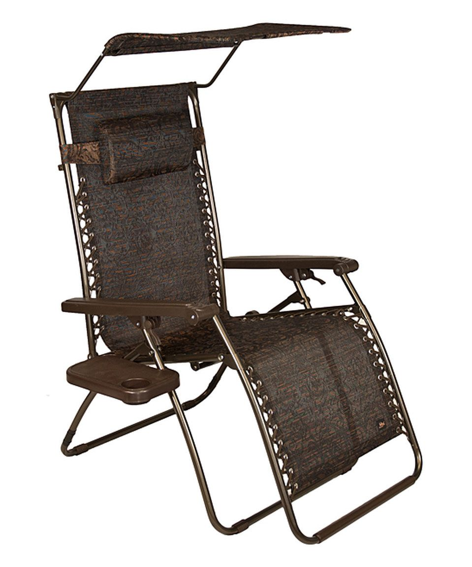 Loving this brown jacquard gravityfree lounger u canopy tray on