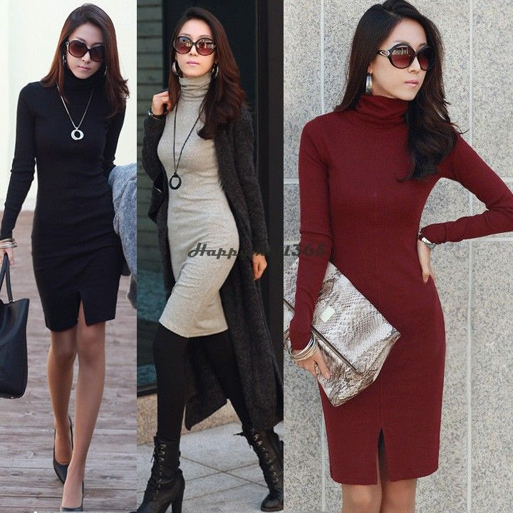 1000  images about turtleneck dress on Pinterest  Kim kardashian ...