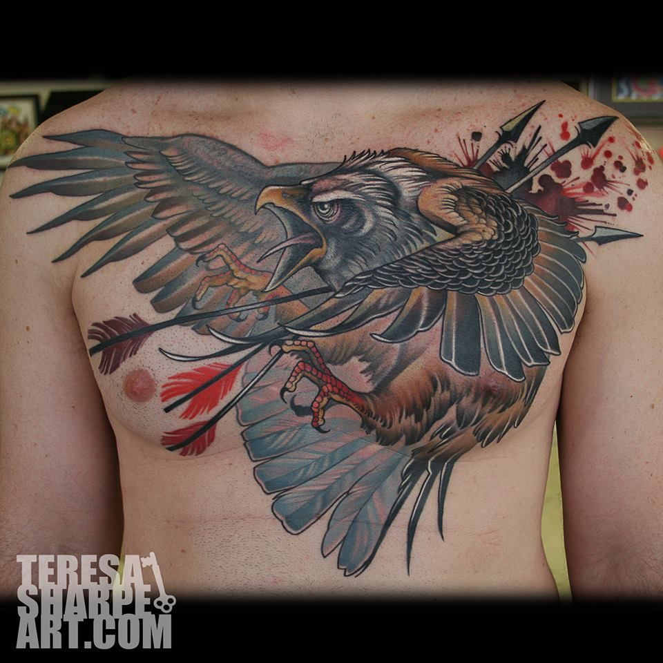Eagle Chest Piece Tattoo