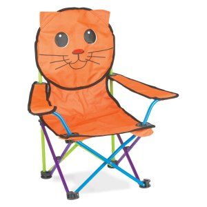 Fabulous Super Fun Animal Folding Chairs Katie The Kitty Chair Theyellowbook Wood Chair Design Ideas Theyellowbookinfo