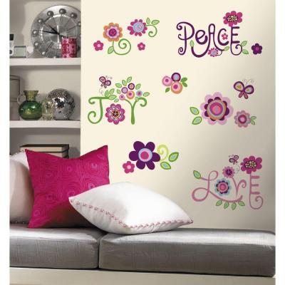 RoomMates 5 in. x 11.5 in. Love, Joy, Peace Peel and Stick Wall Decal-RMK1649SCS - The Home Depot