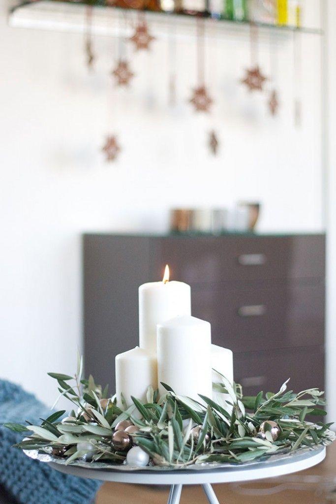 adventskranz mit olivenzweigen diy weihnachten diy. Black Bedroom Furniture Sets. Home Design Ideas