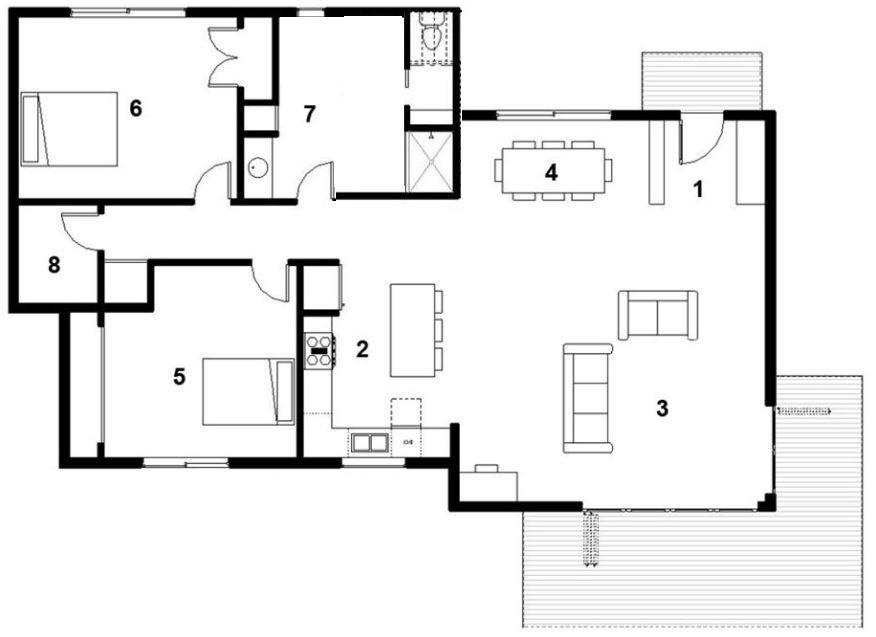 Modelos de casas modernas con planos y fotos de media agua for Planos de casas chicas