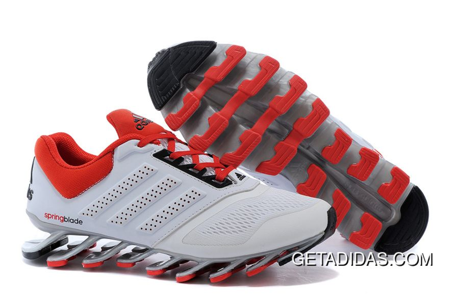 6c4e282920f3 Mens Adidas Springblade Drive 2-0 Running Shoes White Cardinal TopDeals