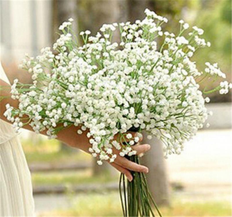 new arrive gypsophila babys breath artificial fake silk flowers plant home wedding decoration