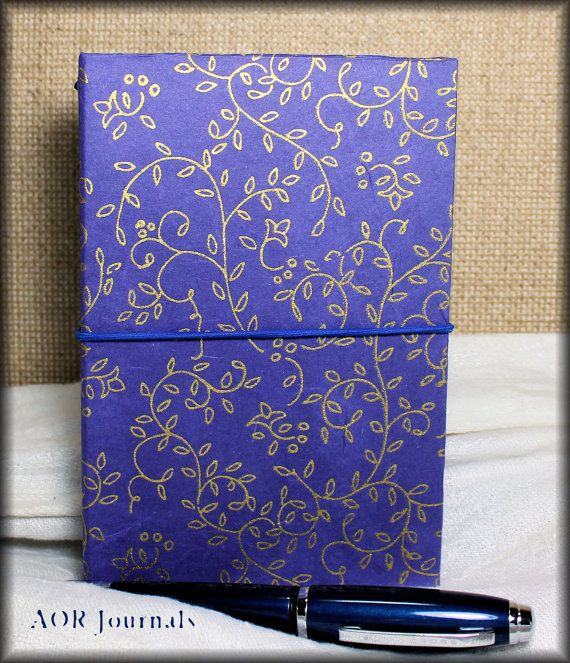Traveleru0027s Notebook Cover Royal Blue \ Gold Rice Paper Hardbound - field note