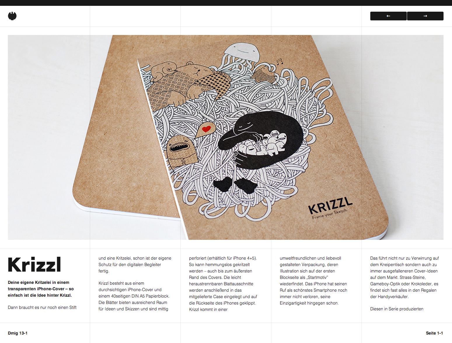 Dmig. Responsive editorial with visible grid