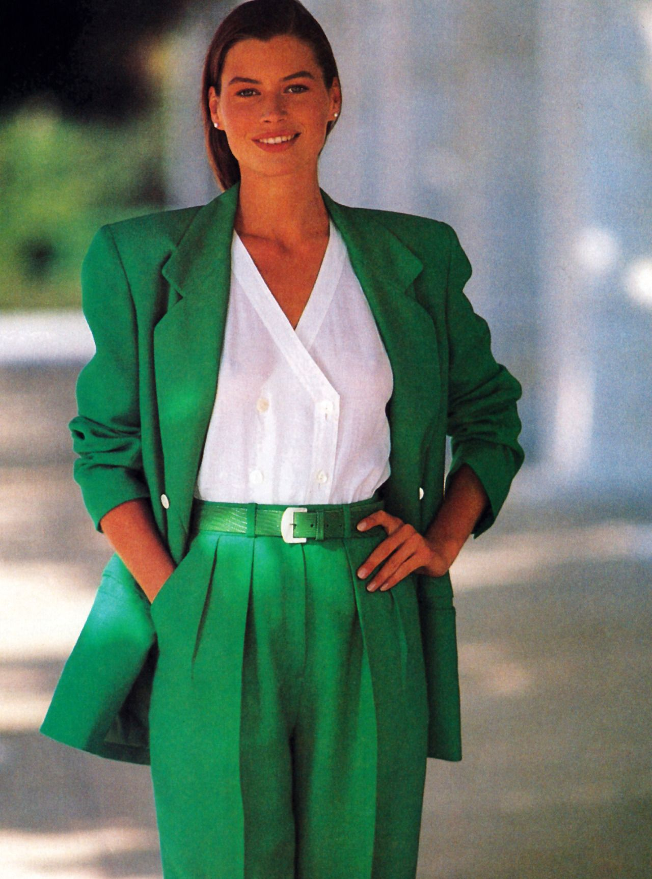 Carrie Otis Jaeger American Vogue January 1989 En Vogue 1980 S