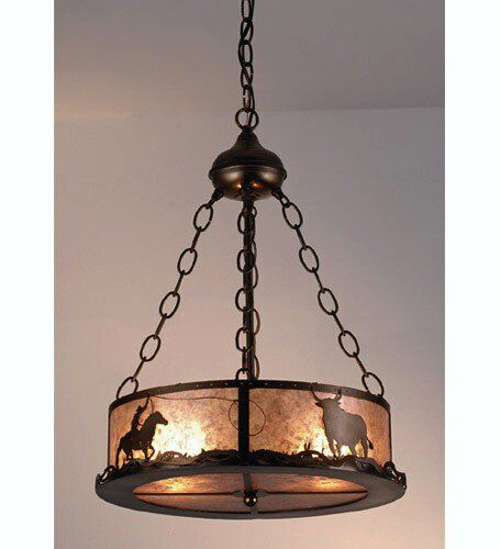 Meyda Tiffany Cowboy Steer 2Light Chandelier – Cowboy Chandelier