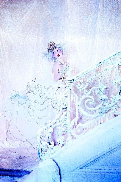 Snow Queen Vodka 2013 Calender shoot, shot by Ellen Von Unwerth.