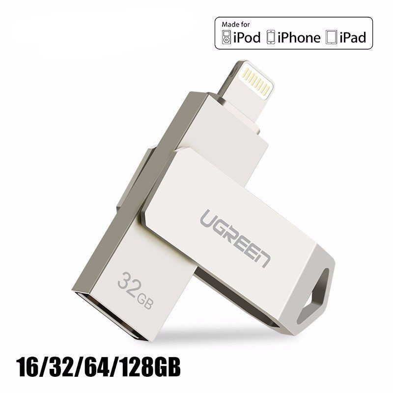 USB Flash Drive For iPhone 7 7 Plus 6 5 5S Lightning to Metal Pen Drive