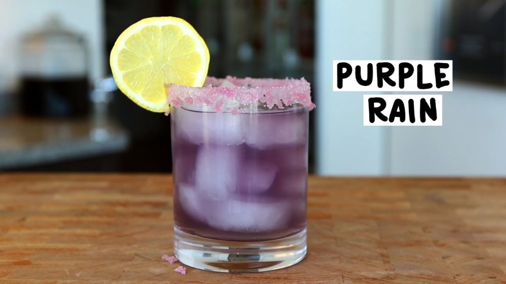 Photo of The Purple Rain Cocktail – Tipsy Bartender