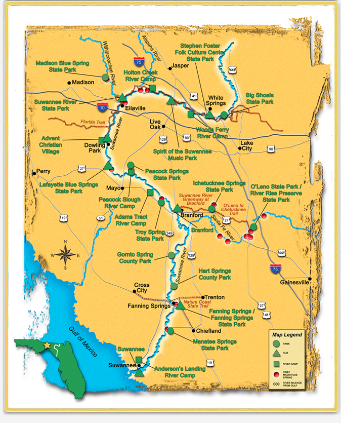Suwannee River Mileage Trip Agenda Ideas Wilderness Rivers and