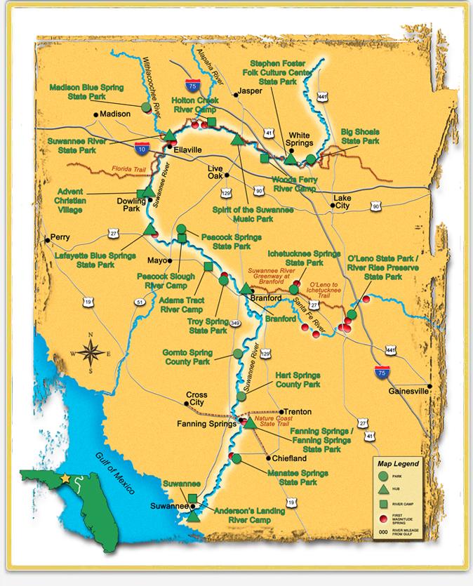 Suwannee River Mileage Trip Agenda Ideas Wilderness