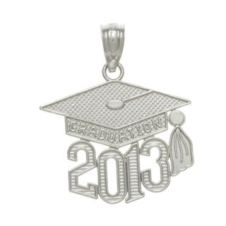 Sterling Silver Graduation 2013 Charm | $17.99 #Jewelry #Shine #Sparkle #Bling | Visit WISHCLOUDS.COM for more…