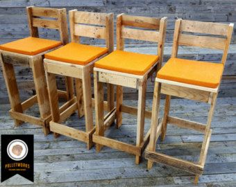Pallet Bar Stools U0026 Table Set // Breakfast Bar By PalletWorksUK