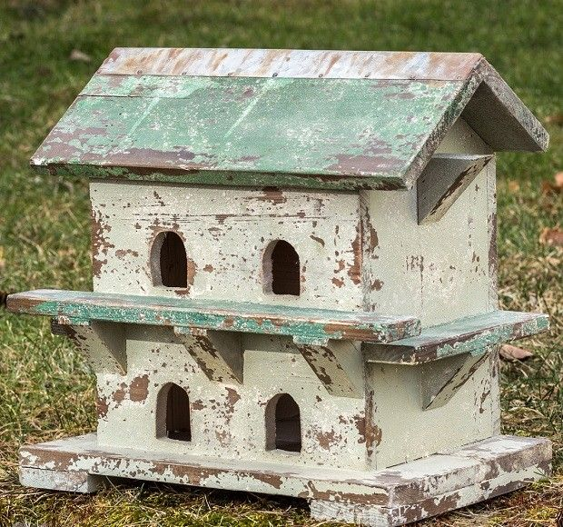 Purple Martin House | Decorative Birdhouse | Shabby Chic Birdhouse
