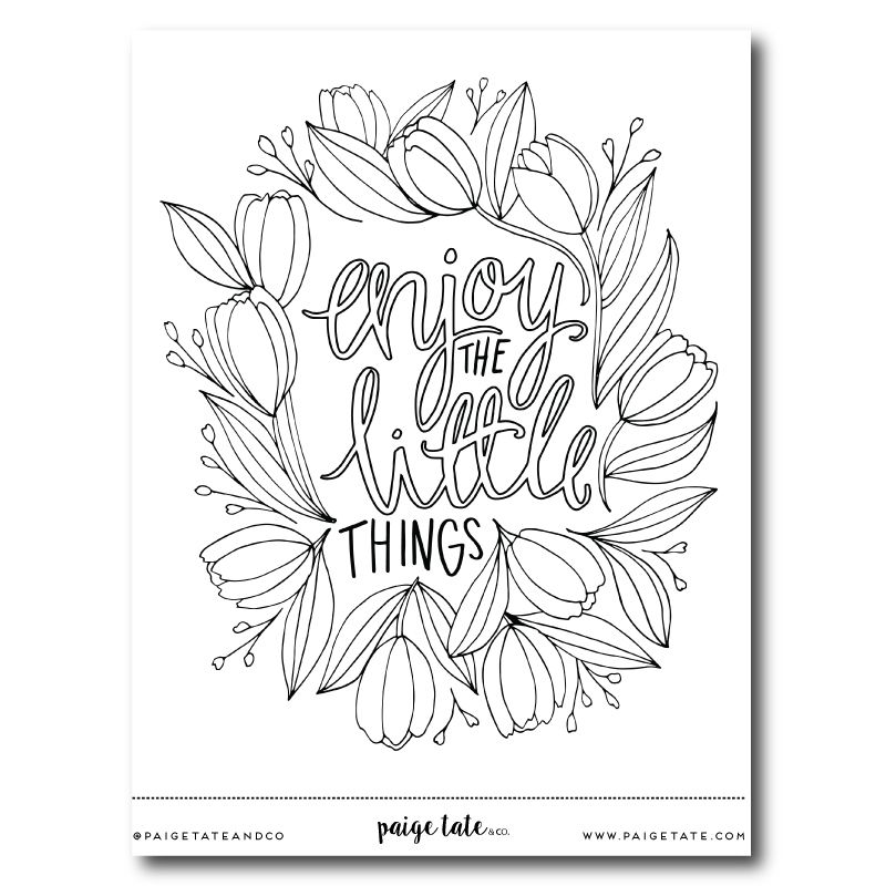 Enjoy The Little Things Print Coloring Books Bible Coloring