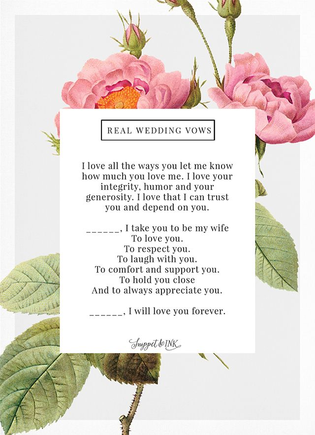 Real Wedding Vows That Are Thoughtful Simple Wedding Vows To Husband Wedding Vows Modern Wedding Vows