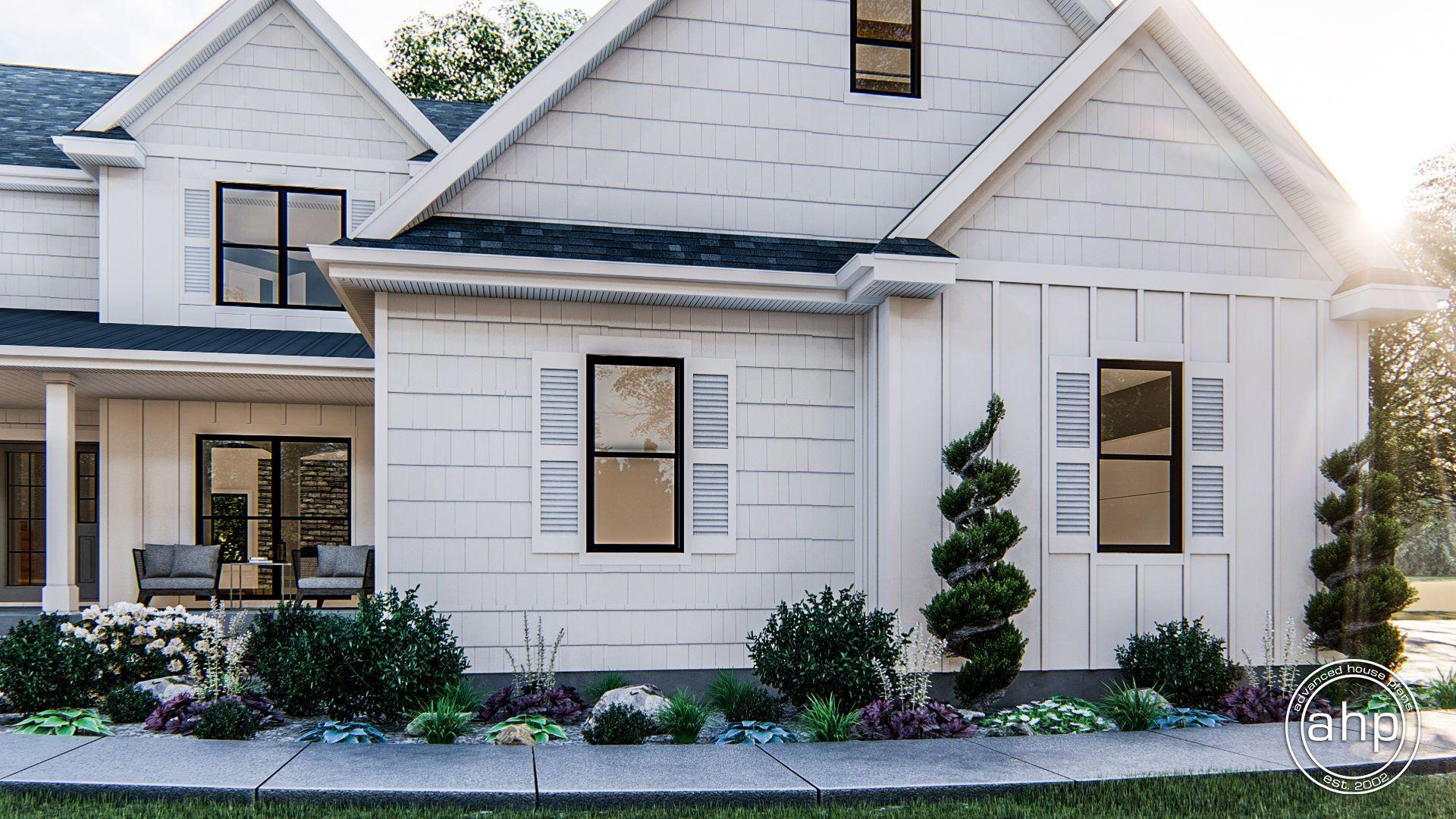 Pine Valley 1.5 Story Modern Farmhouse House Plan House